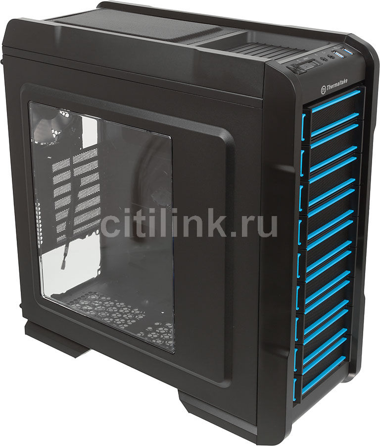 Корпус ATX THERMALTAKE Chaser A31, Midi-Tower, без БП,  черный