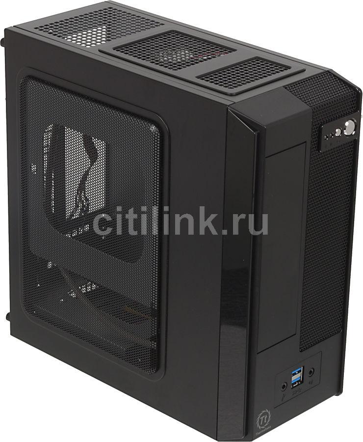 Корпус miniITX THERMALTAKE SD101 VP11821N2E, Mini-Tower, 180Вт,  черный