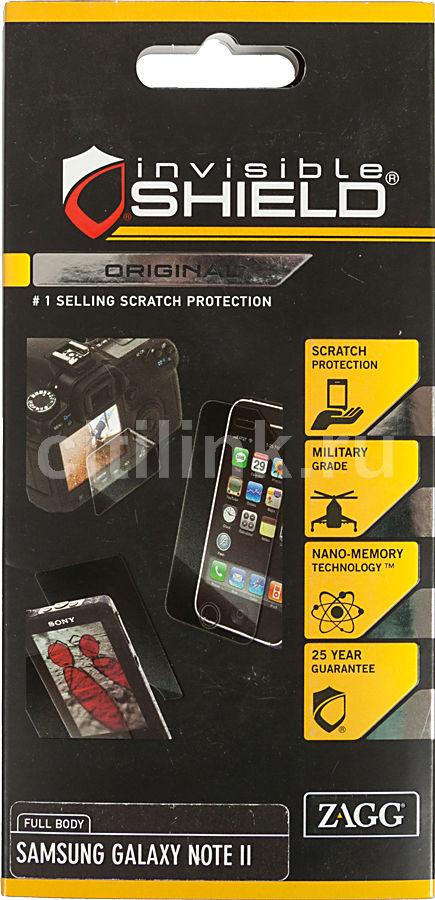 Защитная пленка ZAGG InvisibleSHIELD  для Samsung Galaxy Note II,  прозрачная, 2 шт [samgalnottwole]