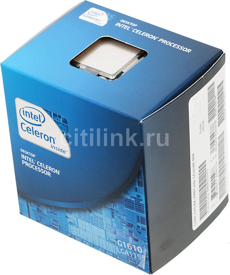 Процессор INTEL Celeron G1610, LGA 1155 BOX [bx80637g1610 sr10k]