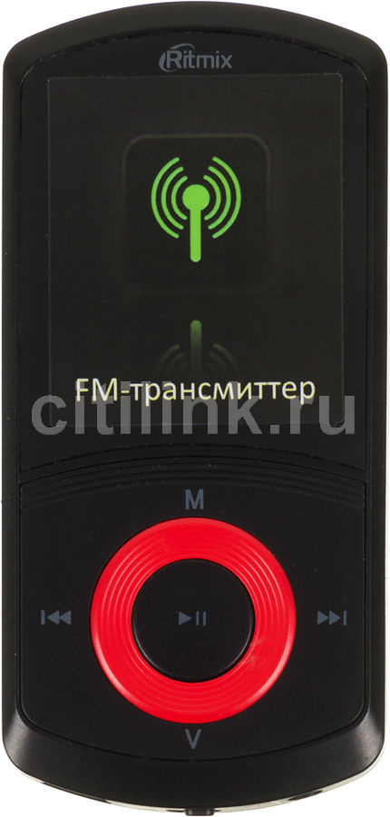 MP3 плеер RITMIX RF-4700 flash 4Гб красный [15114888]