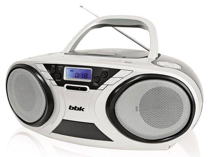 Аудиомагнитола BBK BX516U,  серебристый и черный