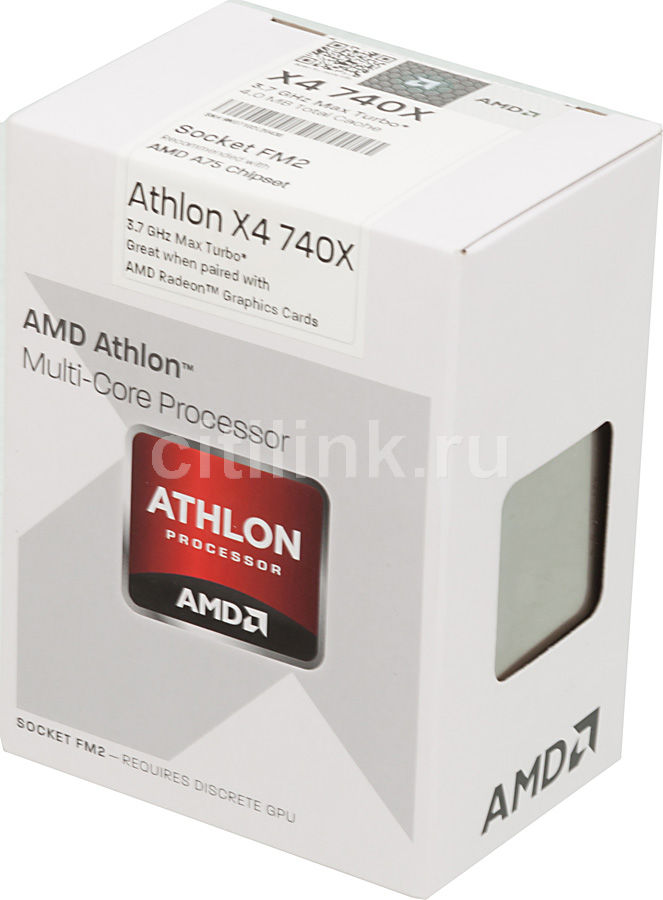 Процессор AMD Athlon X4 740, SocketFM2 BOX [ad740xokhjbox]