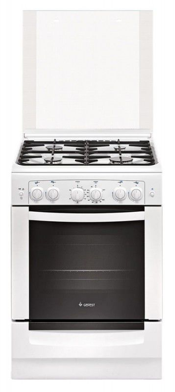 Газовая плита ГЕФЕСТ 6100-02 С,  газовая духовка,  белый