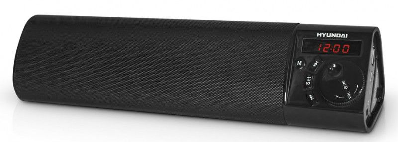 Аудиомагнитола HYUNDAI H-PS1203B,  черный