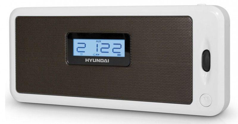 Аудиомагнитола HYUNDAI H-PS1206,  белый