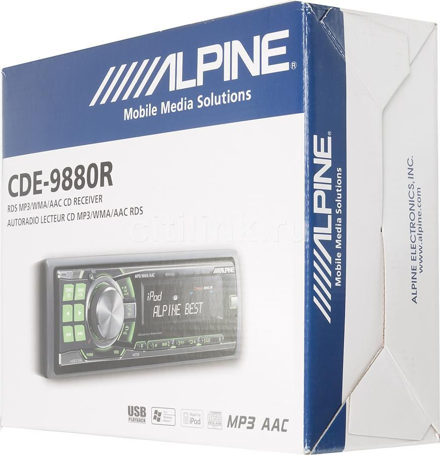 Автомагнитола ALPINE CDE-9882Ri,  USB