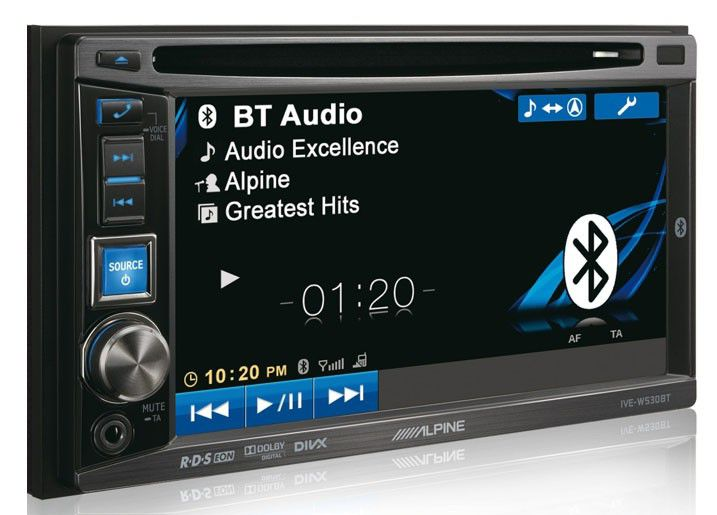 Автомагнитола ALPINE IVE-W530BT,  USB