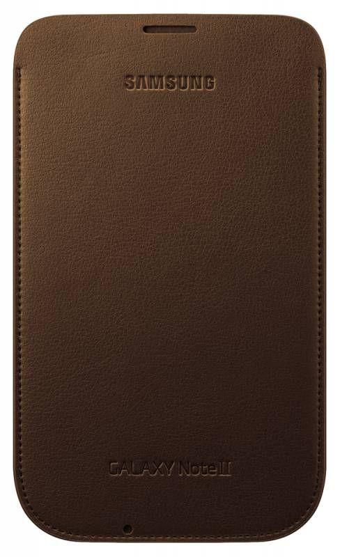 Чехол (футляр) SAMSUNG EFC-1J9LCEGSTD, для Samsung Note II, коричневый