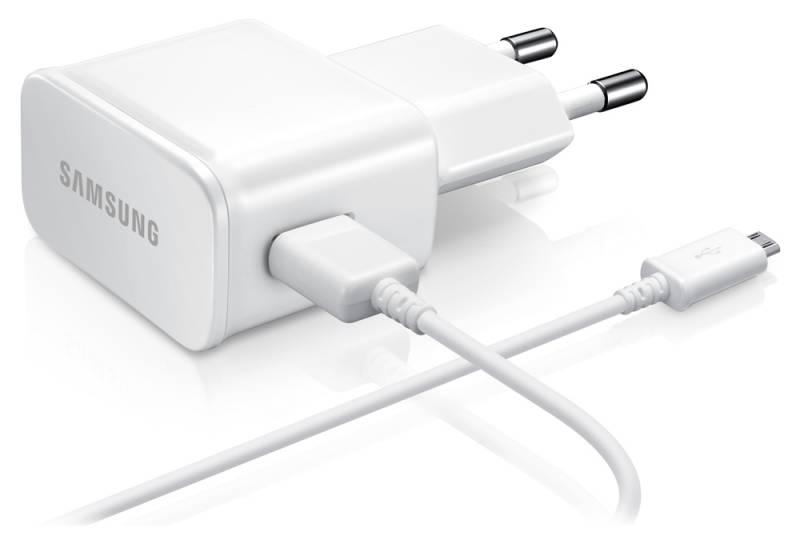 Сетевое зарядное устройство SAMSUNG ETA-U90EWEGSTD,  USB,  microUSB,  2A,  белый
