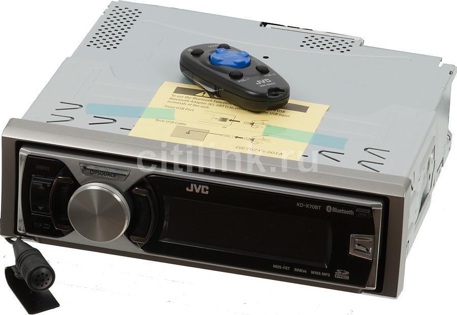 Автомагнитола JVC KD-X70BTEY,  USB,  SDHC