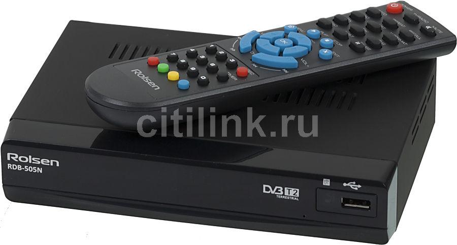 Ресивер DVB-T2 ROLSEN RDB-505N,  черный [1-rldb-rdb-505n]