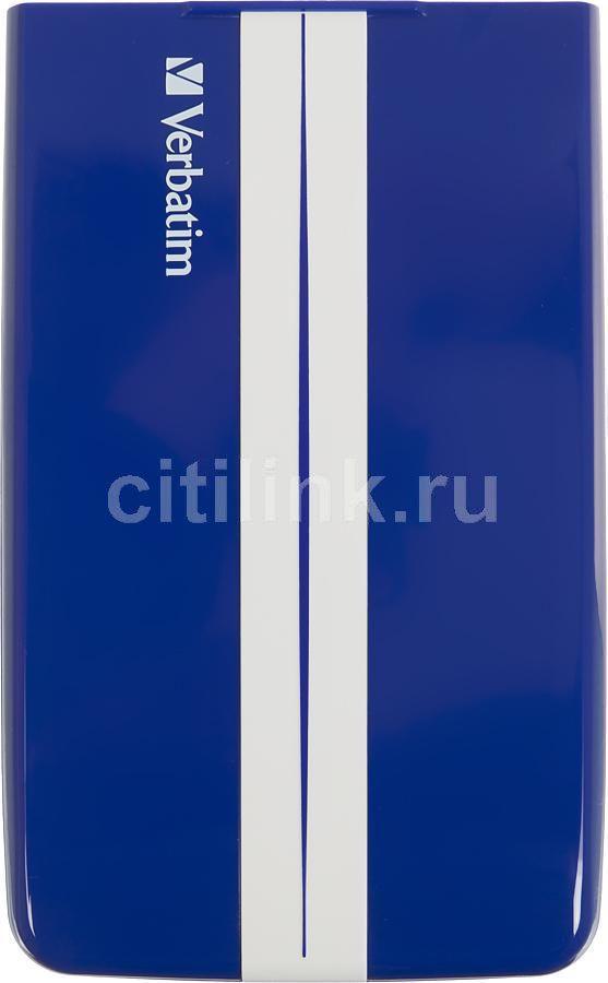 Внешний жесткий диск VERBATIM GT SuperSpeed, 1Тб, синий [53083]