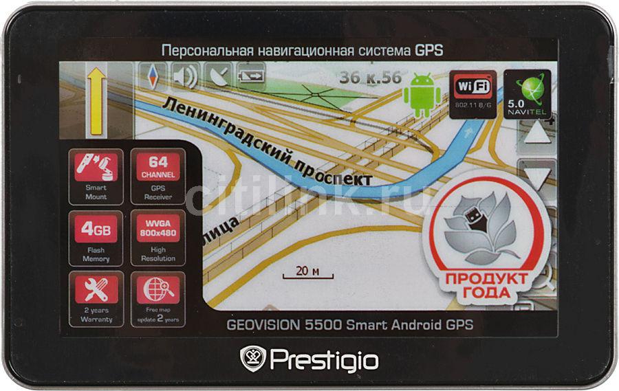 GPS навигатор PRESTIGIO GeoVision 5500 AND,  5