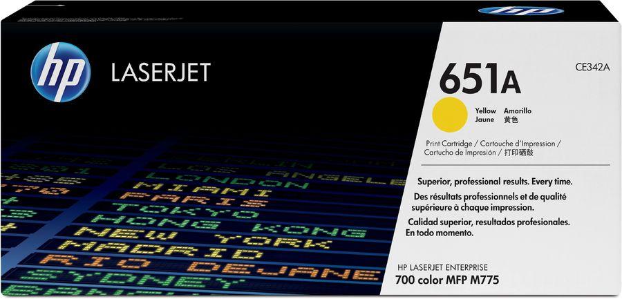 Картридж HP 651A желтый [ce342a]