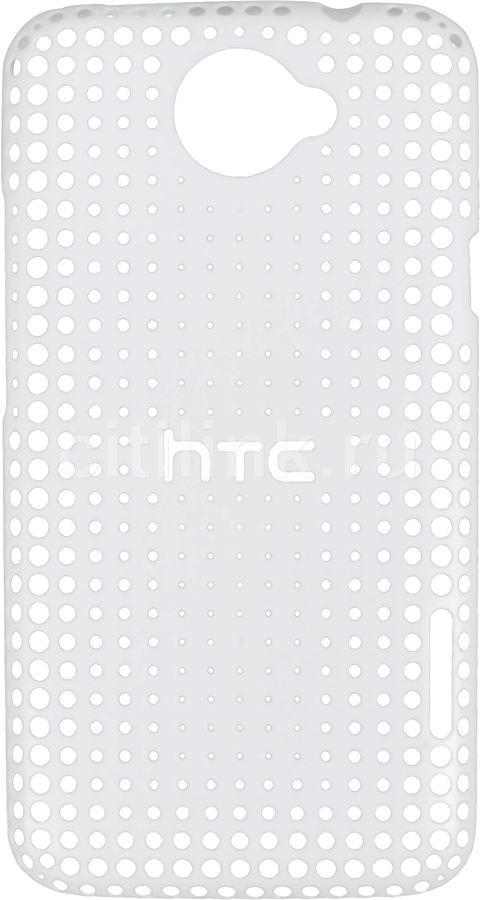 Чехол (клип-кейс) HTC HC C704, для HTC One X, белый [hc c704 белый]