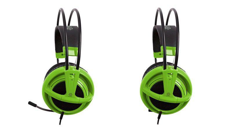 Наушники с микрофоном STEELSERIES Siberia v2 full-size (51120),  накладные, зеленый
