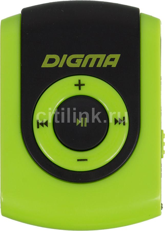 MP3 плеер DIGMA C1 flash 4Гб зеленый