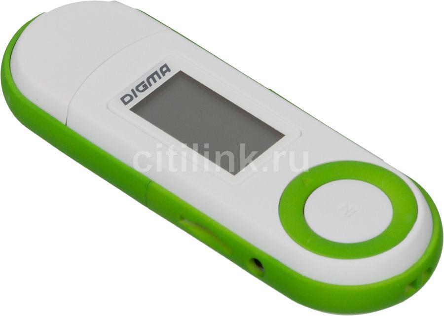 MP3 плеер DIGMA U1 flash 4Гб белый/зеленый
