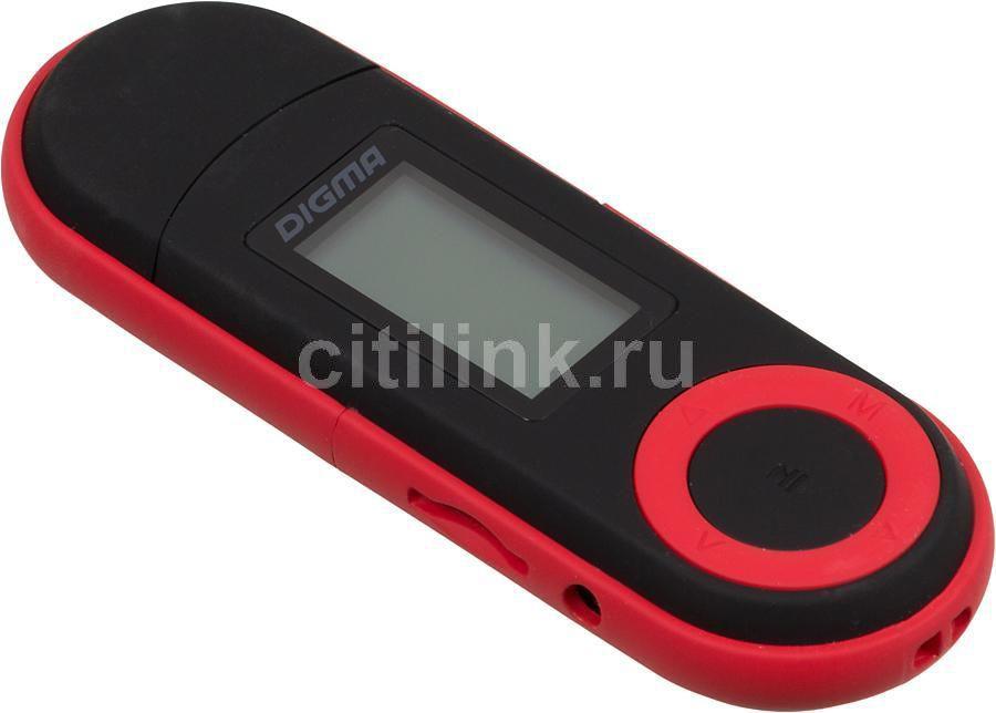 MP3 плеер DIGMA U1 flash 4Гб черный/красный