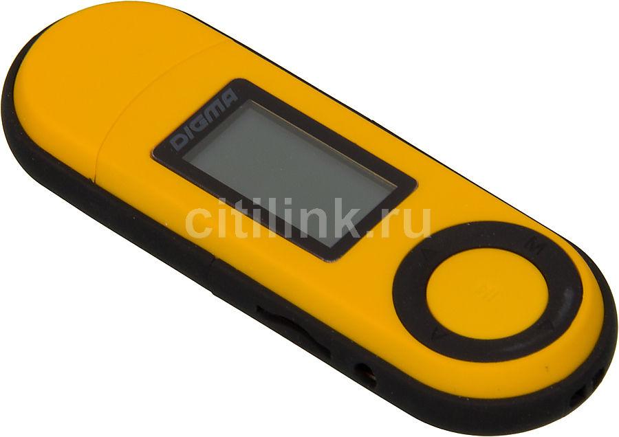 MP3 плеер DIGMA U1 flash 4Гб оранжевый/черный