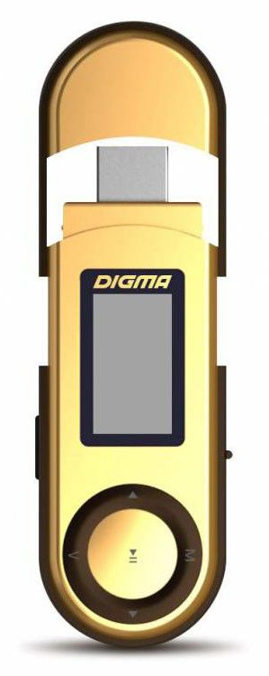 MP3 плеер DIGMA U1 flash 4Гб золотистый/коричневый