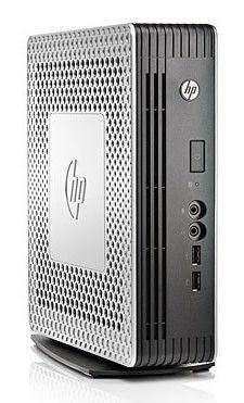 Тонкий клиент  HP t610,  AMD  T56N,  DDR3 4Гб, 16Гб(SSD),  AMD Radeon HD 6320,  без ODD,  Windows Embedded Standard 7,  серебристый и черный [b8d08aa]