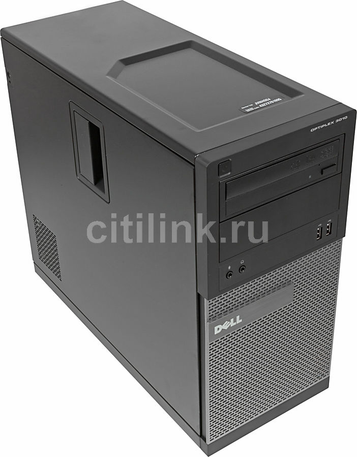 Компьютер  DELL Optiplex 3010 MT,  Intel  Core i3  3220,  DDR3 4Гб, 1Тб,  Intel HD Graphics 2500,  DVD-RW,  Windows 7 Professional,  черный и серебристый [210-40047]