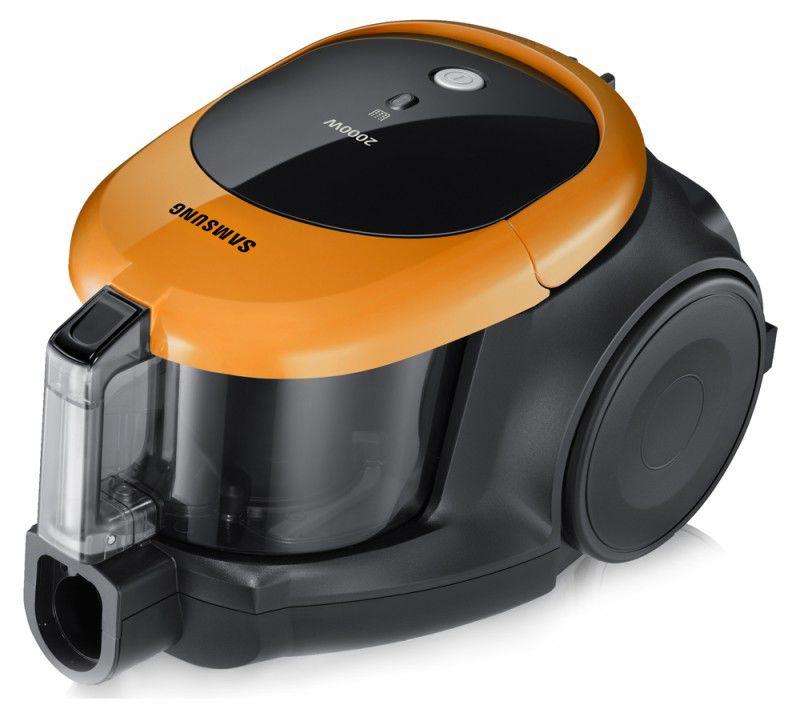 Пылесос SAMSUNG SC4470, 2000Вт, черный/оранжевый