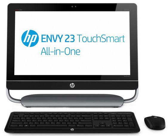 Моноблок HP ENVY 23-d010er, Intel Core i7 3770S, 8Гб, 2Тб, nVIDIA GeForce GT630M - 2048 Мб, DVD-RW, Windows 8 Professional, черный и серый [c6v42ea]