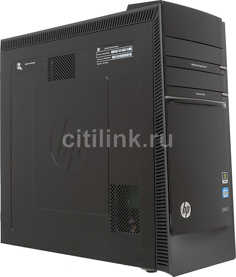 Компьютер  HP ENVY h8-1400en,  Intel  Core i7  3770,  DDR3 8Гб, 2Тб,  nVIDIA GeForce GTX 640 - 3072 Мб,  DVD-RW,  CR,  Windows 8,  черный [c6w62ea]