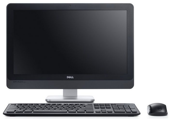 Моноблок DELL Optiplex 9010, Intel Core i5 3470S, 4Гб, 500Гб, Intel HD Graphics 2500, Windows 8 Professional, черный и серебристый [210-41135]