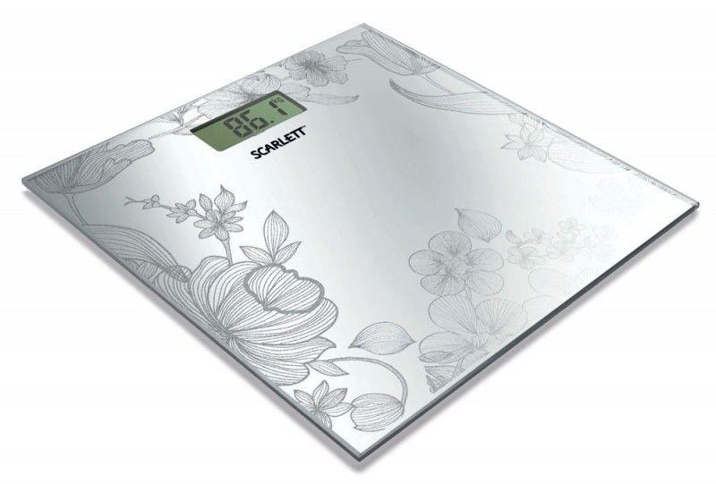 Весы SCARLETT SC215, до 150кг, цвет: серебристый