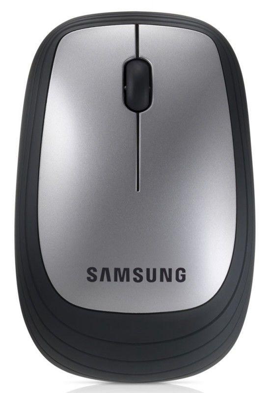 Мышь SAMSUNG AA-SM7PWRS оптическая беспроводная USB, серебристый и черный [aa-sm7pwrs/ru]