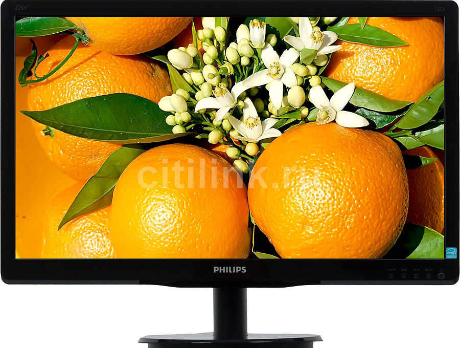 "Монитор ЖК PHILIPS 226V4LSB2 (10/62) 21.5"", черный"