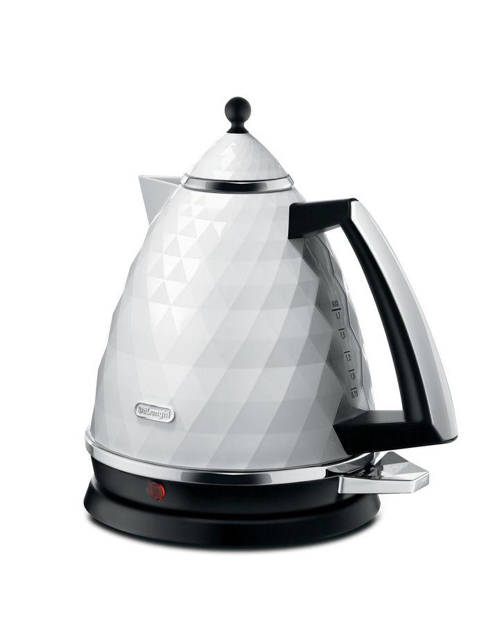 Чайник электрический DELONGHI KBJ 2001.W, 2000Вт, белый