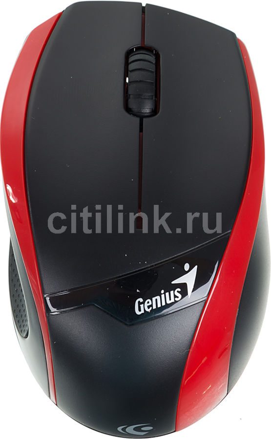 Мышь GENIUS DX-7010 оптическая беспроводная USB, красный и черный [31030074102]