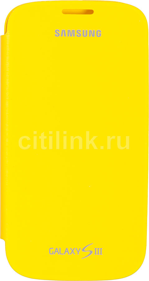 Чехол (флип-кейс) SAMSUNG EFC-1G6FYE, для Samsung Galaxy S III, желтый [efc-1g6fyecstd]