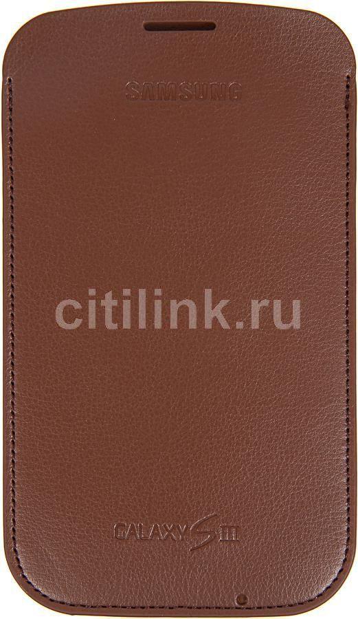 Чехол (футляр) SAMSUNG EFC-1G6LCE, для Samsung Galaxy S III, коричневый [efc-1g6lcecstd]