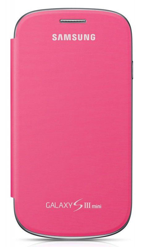 Чехол (флип-кейс) SAMSUNG EFC-1M7FPE, для Samsung Galaxy S III mini, розовый [efc-1m7fpegstd]