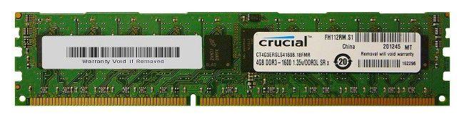 Память DDR3 4Gb 1600MHz Crucial (CT4G3ERSLS4160B.18FMR) RTL