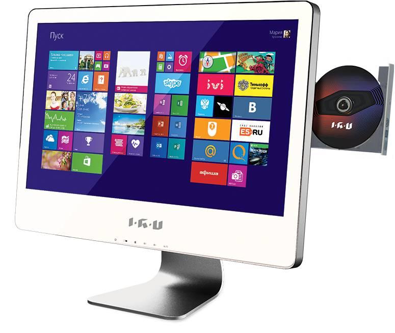 Моноблок IRU 307, Intel Core i5 3570, 6Гб, 1Тб, nVIDIA GeForce GT630M - 1024 Мб, DVD-RW, Windows 8, белый [741225]