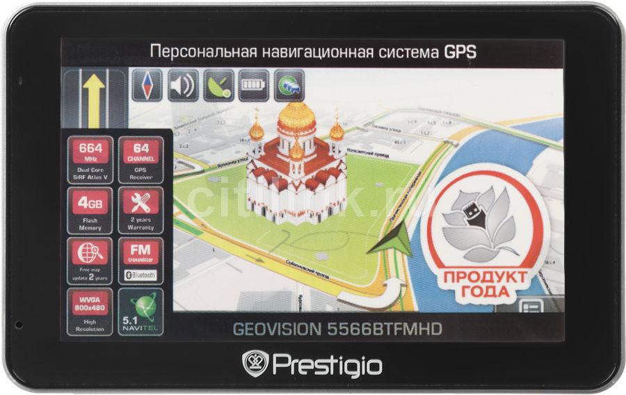GPS навигатор PRESTIGIO GeoVision 5566BTFMHD,  5