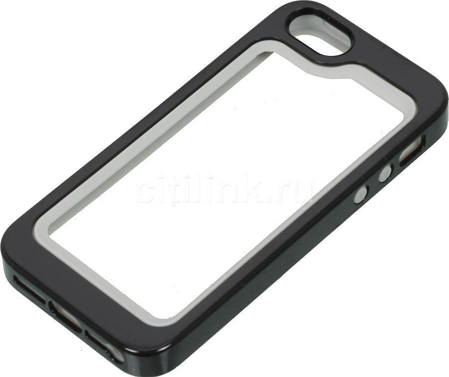 Бампер BELKIN F8W217vfC00, для Apple iPhone 5, черный