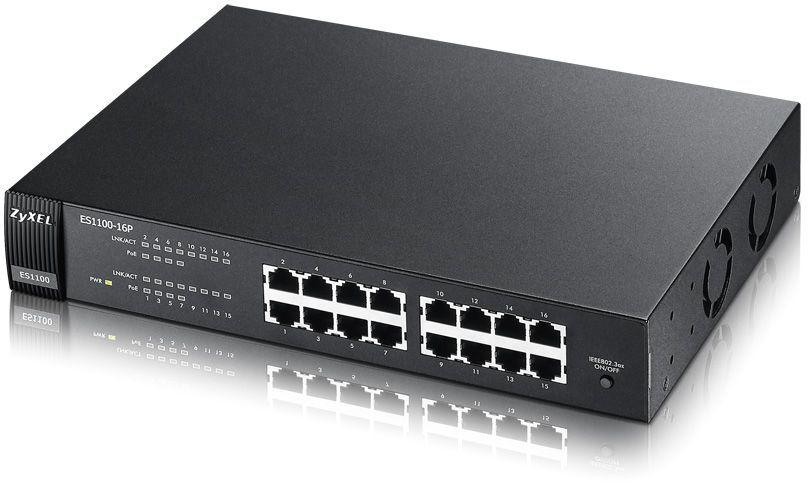 Коммутатор ZYXEL ES1100-16P, ES1100-16P