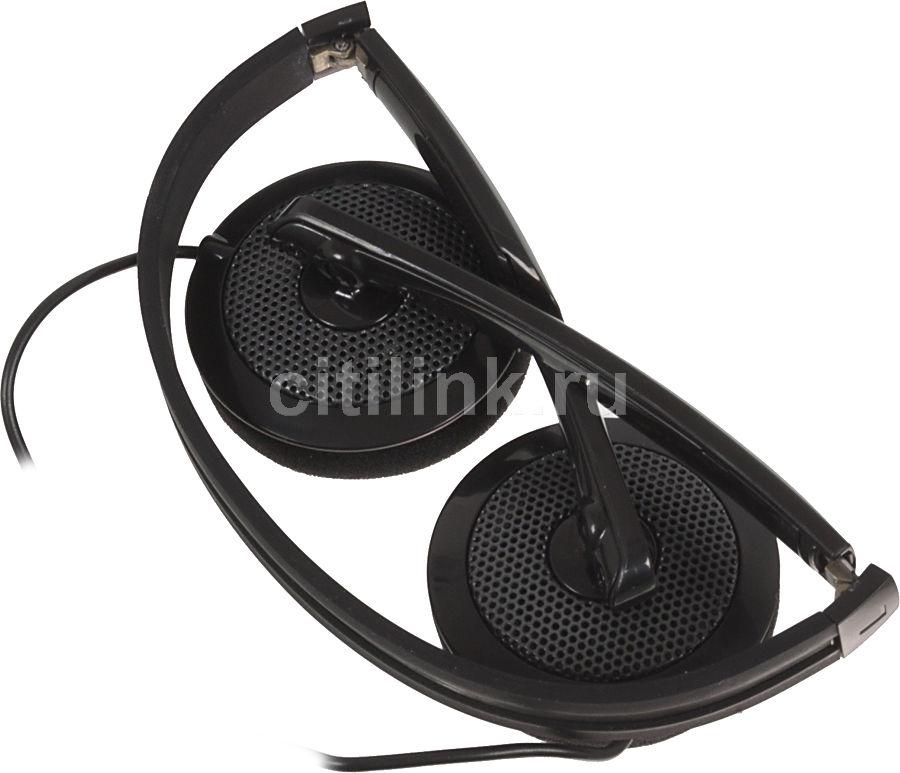Наушники с микрофоном A4 T-110i,  накладные, черный