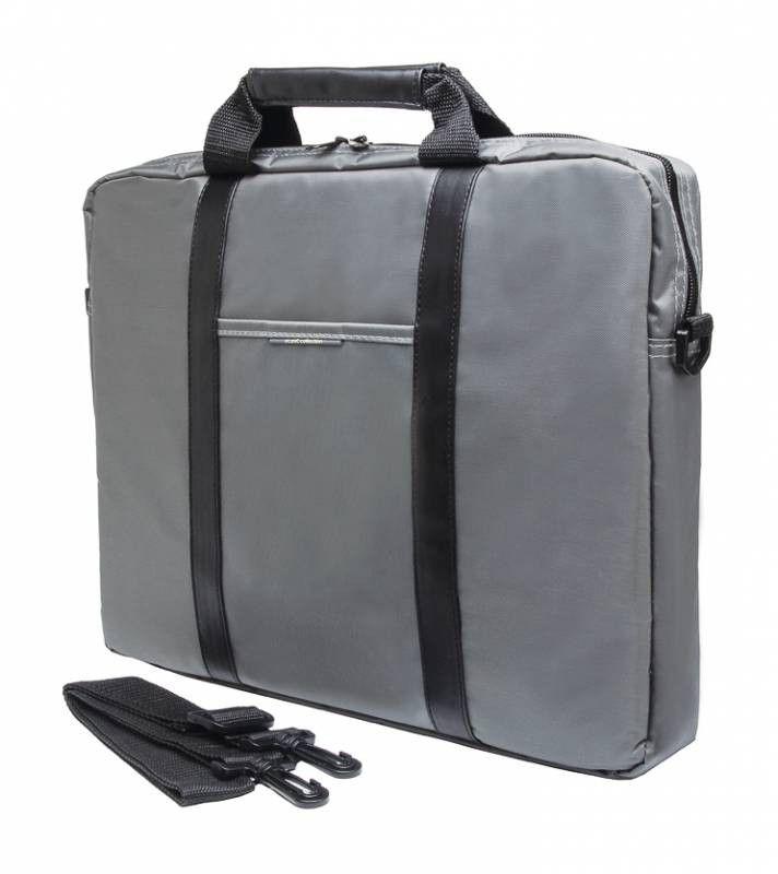 """Сумка для ноутбука 15.6"""" PC PET PCP-1003GR, серый/черный"""