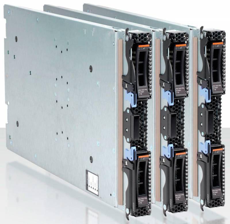 Сервер IBM HS23 Xeon 8C E5-2680 130W 2.7GHz/1600MHz/20MB, 4x8GB, O/Bay 2.5in SAS (7875C8G)