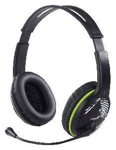 Наушники с микрофоном GENIUS HS-400А,  мониторы, черный  / зеленый [31710169100]