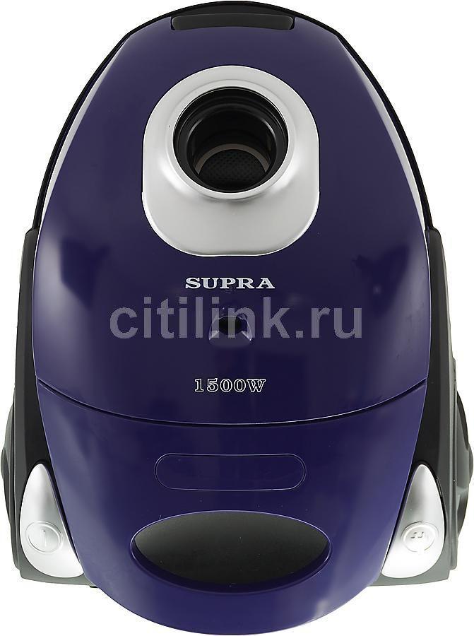 Пылесос SUPRA VCS-1530, 1500Вт, фиолетовый